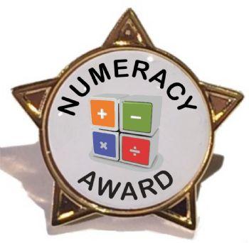 NUMERACY AWARD star badge